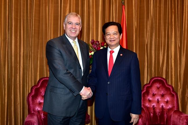Thủ tướng Nguyễn Tấn Dũng tiếp Hoàng tử Andrew