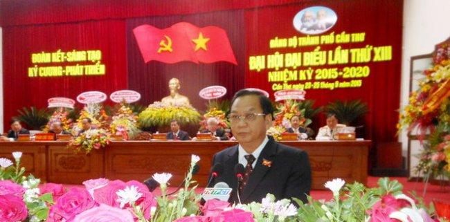 Ông Trần Quốc Trung giữ chức Bí thư thành ủy Cần Thơ