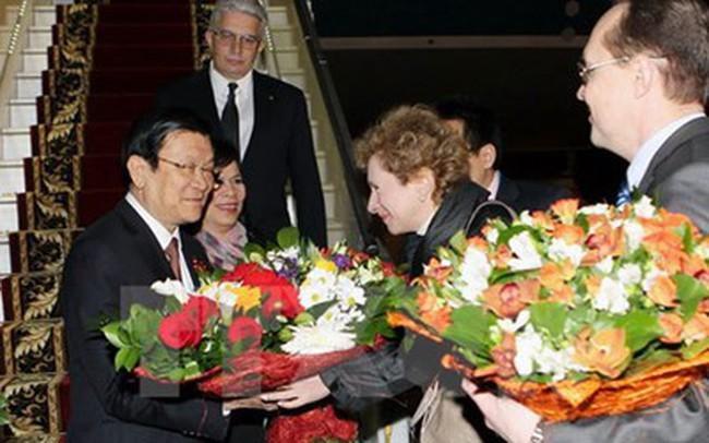 Chủ tịch nước Trương Tấn Sang đã đến thủ đô Moscow (Nga)