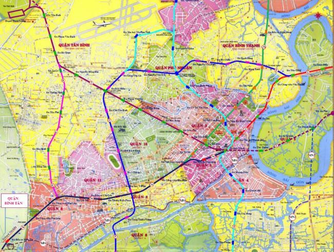 Gần 92.000 tỷ đồng xây dựng 3 tuyến metroTP.HCM