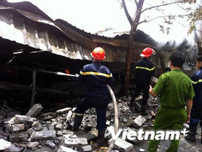 Cháy công ty bao bì tại Khu công nghiệp Nhơn Trạch-Đồng Nai