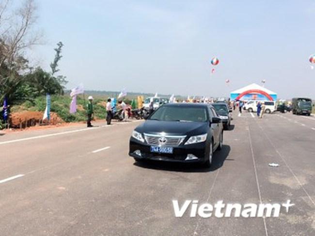 Thông xe 70Km dự án nâng cấp, mở rộng Quốc lộ 1 qua Quảng Trị