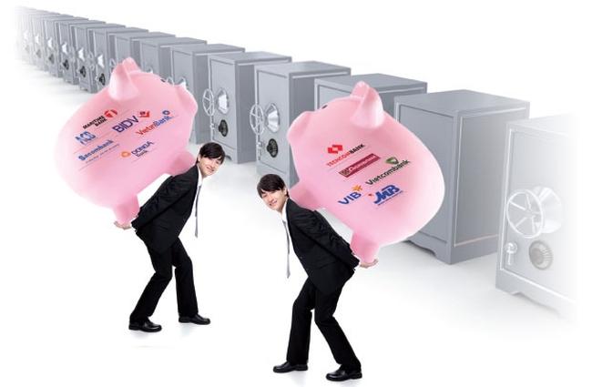So găng quy mô tổng tài sản của các ngân hàng hiện nay