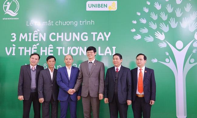 Công ty Uniben tài trợ 3 tỷ đồng cho trẻ em Nghệ An năm 2016