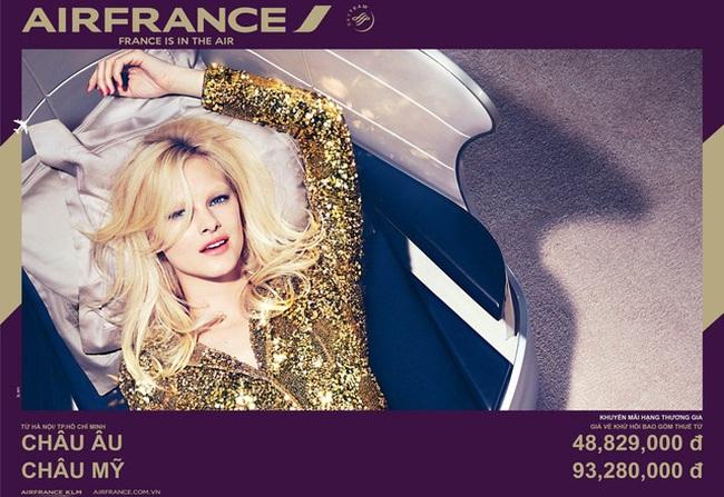 Air France khuyến mãi cho hành khách hạng thương gia