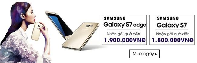 Ưu đãi lớn cho khách hàng mua Galaxy S7 tại Nhật Cường Mobile