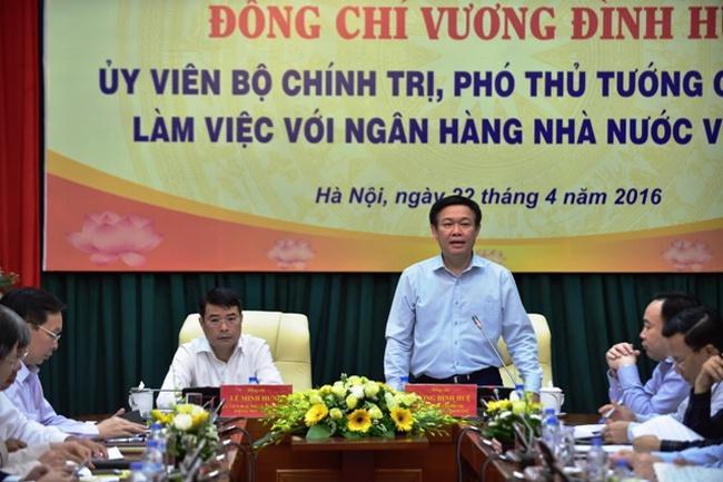 Phó Thủ tướng Vương Đình Huệ: Xử lý dứt điểm các ngân hàng yếu kém và vấn đề sở hữu chéo