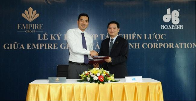 Lễ ký kết hợp tác chiến lược giữa Empire Group và Hòa Bình Corporation