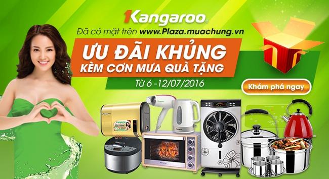 Kangaroo & Muachung Plaza hợp tác bán hàng giá ưu đãi kèm cơn mưa quà tặng