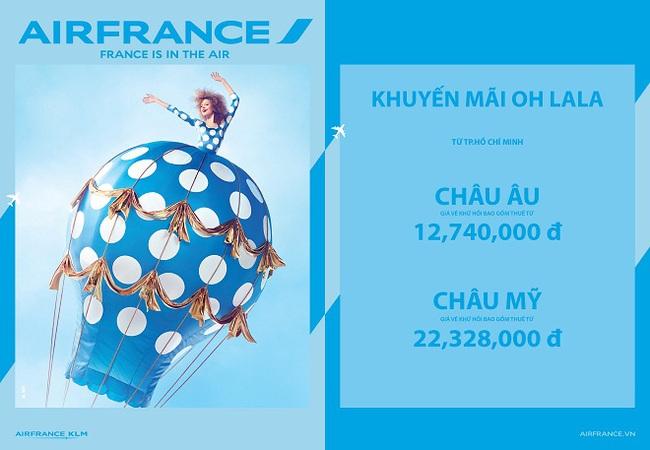Thưởng ngoạn thế giới cùng khuyến mãi OH LALA từ Air France