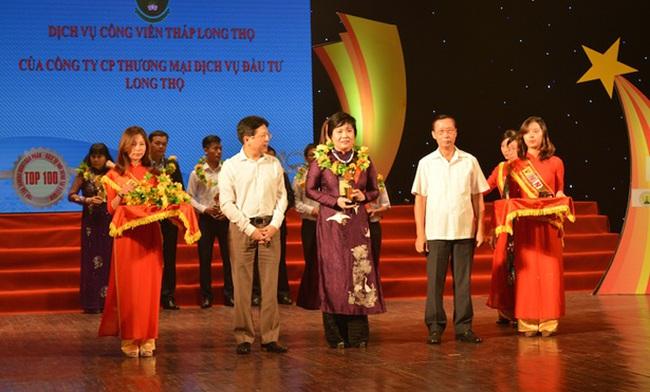 """Long Thọ nhận giải thưởng Top 10 """"Thương hiệu, sản phẩm, dịch vụ nổi tiếng tại Việt Nam"""" 2016"""