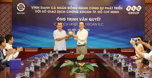 Sở Giao dịch Chứng khoán Tp.HCM vinh danh ông Trịnh Văn Quyết