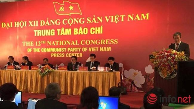 Các nội dung chính của Đại hội Đảng 12