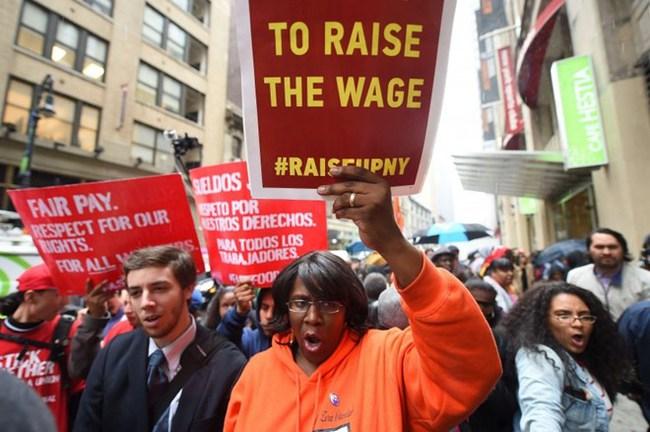 14 bang nước Mỹ tăng lương tối thiểu trong ngày 1/1/2016