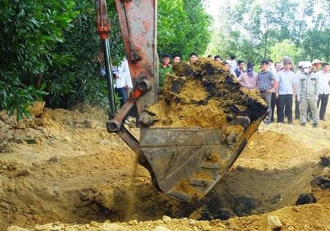 Vụ chôn chất thải Formosa: Phát hiện thêm 2 điểm chôn lấp