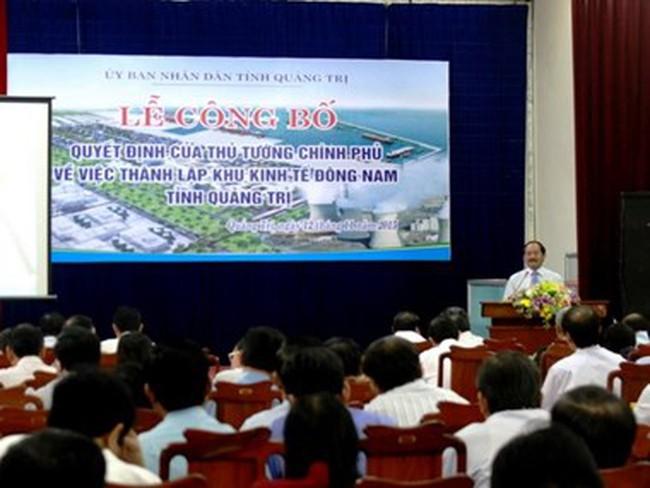 Phê duyệt Nhiệm vụ Quy hoạch chung Khu kinh tế Đông Nam Quảng Trị