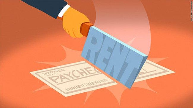 11 triệu người Mỹ mất một nửa tháng lương cho việc thuê nhà