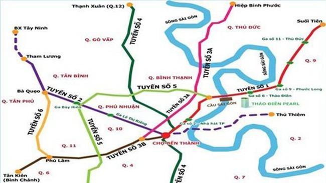 41.607 tỉ đồng xây dựng tuyến metro số 5 TP.HCM