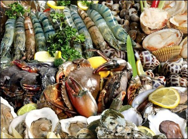 Hải sản đứng đầu bảng về chứa chất cấm, kháng sinh