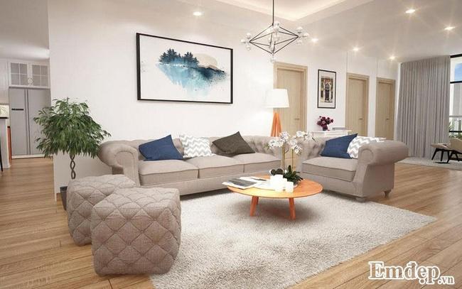 Bố trí nội thất chung cư 135m2 theo phong cách vintage