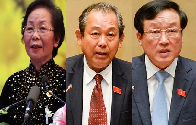 Chủ tịch nước trình Quốc hội đề cử ba chức danh lãnh đạo cấp cao vừa miễn nhiệm