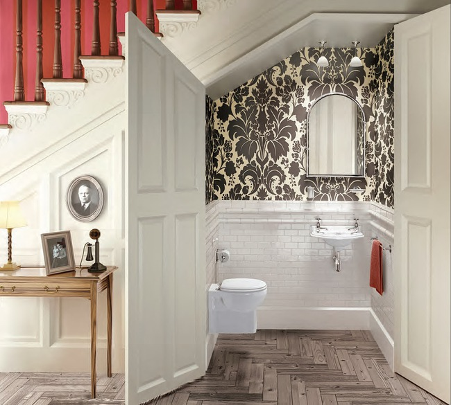 """6 thiết kế nhà vệ sinh tận dụng góc chết dưới gầm cầu thang """"chuẩn không cần chỉnh"""""""