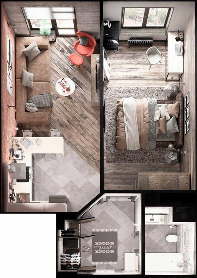 Ngỡ ngàng với nội thất, thiết kế thông minh căn hộ diện tích chỉ 30m2