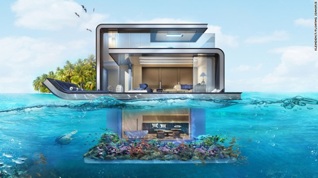Những căn biệt thự tuyệt đẹp trên mặt biển