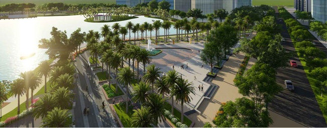Hà Nội có thêm công viên hồ điều hòa hiện đại tại cửa ngõ phía Tây
