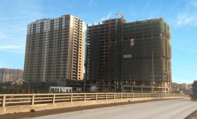 Sắp cất nóc thêm tòa nhà giá rẻ nằm trên Đại lộ Thăng Long