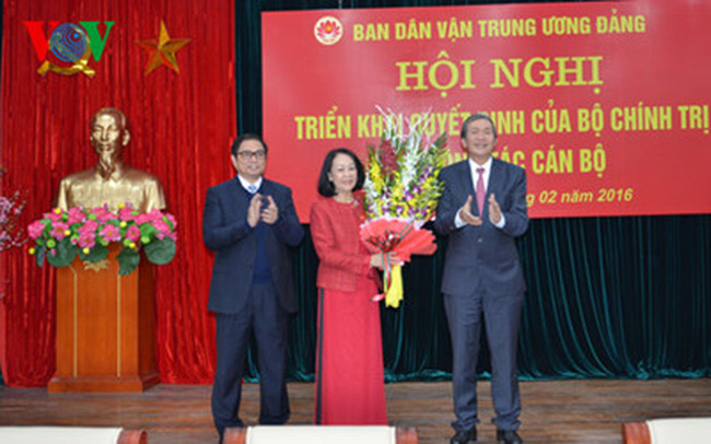 Bà Trương Thị Mai giữ chức Trưởng Ban Dân vận Trung ương