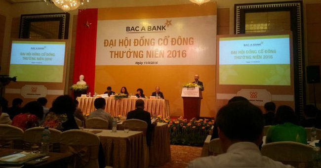 ĐHĐCĐ Bac A Bank: ROA, ROE hiện nay đã hơn hẳn Sacombank, Eximbank và gần bằng ACB