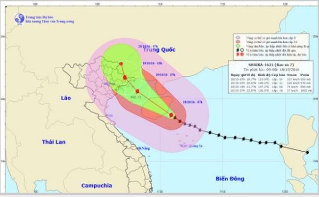 Bão số 7 cách Quảng Ninh - Hải Phòng khoảng 420km