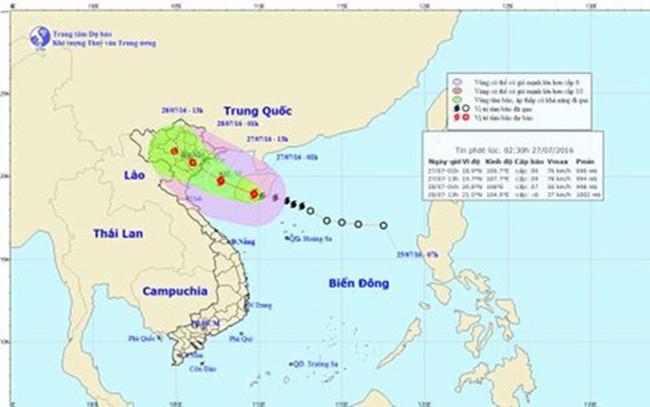Bão số 1 giật cấp 9-10, áp sát Quảng Ninh - Nam Định