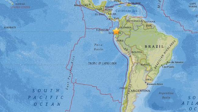 Động đất 7,8 độ richter ở Ecuador, cảnh báo sóng thần