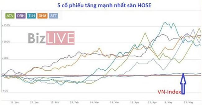 """5 tháng đầu năm 2016, SPI là cổ phiếu """"điên"""" nhất trên 2 sàn"""