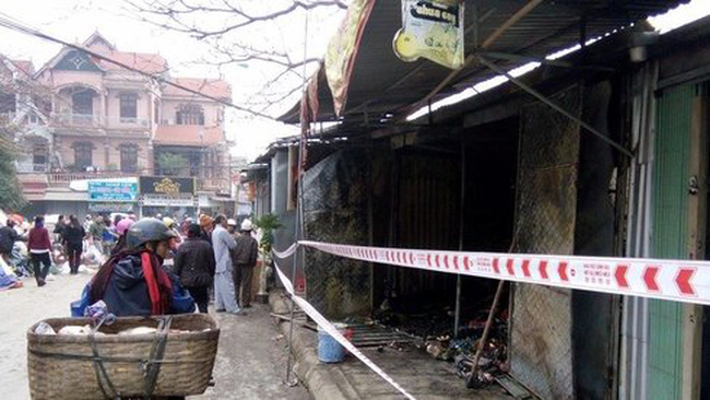 Cháy chợ lớn nhất thị xã Thái Hòa