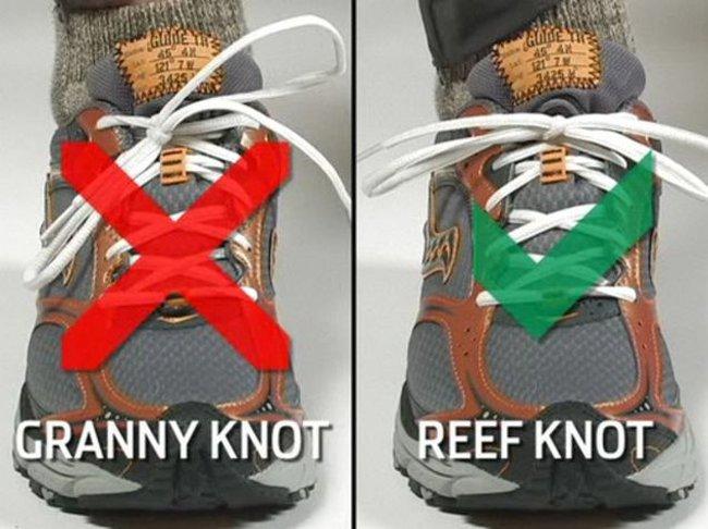 Đa số chúng ta buộc dây giày sai cách, đây mới là cách đúng