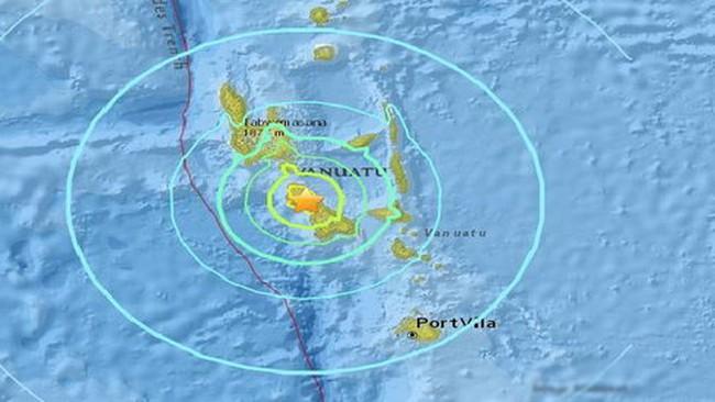 Động đất 7,0 độ Richter ở Vanuatu, cảnh báo sóng thần