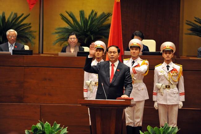 """Chủ tịch nước Trần Đại Quang: """"Tôi nguyện làm hết sức mình phụng sự Tổ quốc, phục vụ nhân dân"""""""