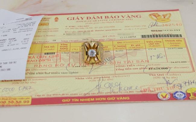 Khách tố Bảo Tín Minh Châu lập lờ trong bán hàng, đá đính trên nhẫn không giá trị nhưng vẫn tính tiền như giá vàng