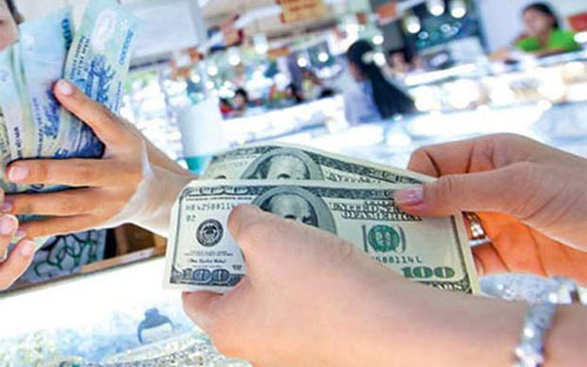Tỷ giá trung tâm đảo chiều tăng 5 đồng