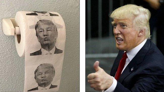 Công tyTrung Quốc hốt bạc nhờ giấy vệ sinh in hình Donald Trump