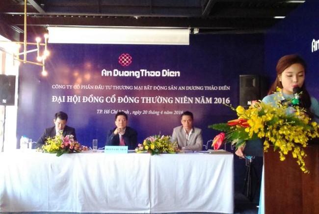 ĐHĐCĐ An Dương Thảo Điền: Năm 2016 kế hoạch lãi ròng 48 tỷ, nới room ngoại