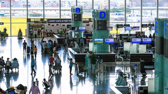 Sân bay Nội Bài sẽ chỉ phát loa thông báo thông tin 1 lần