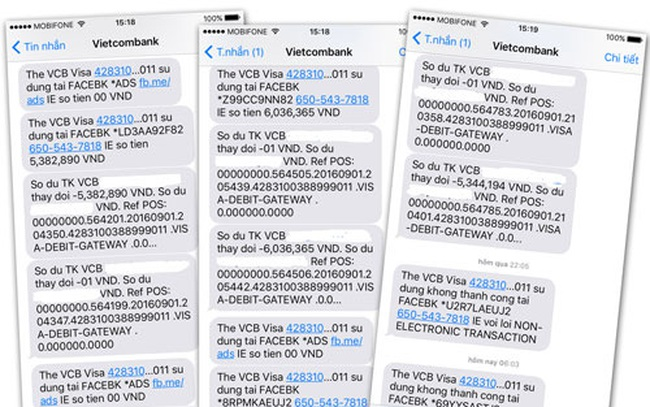 Thêm chủ thẻ Vietcombank mất hơn 20 triệu đồng
