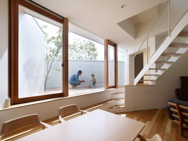 Nhà hai tầng độc đáo với các hình khối xếp chồng lên nhau ở Nhật