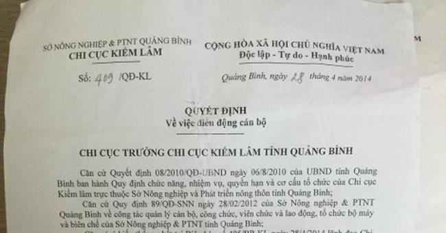 Quảng Bình: Bị kết án tham nhũng vẫn được bổ nhiệm làm lãnh đạo