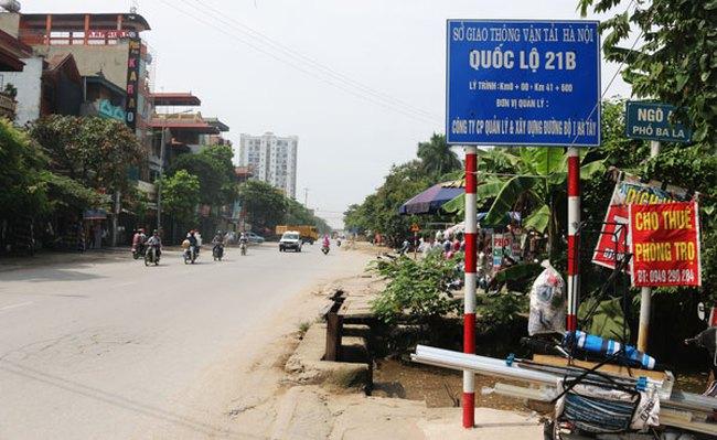 Hà Nội: Sắp thi công tuyến Quốc lộ 21B đoạn qua thị trấn Kim Bài