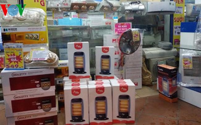 Cửa hàng, siêu thị đua khuyến mãi thiết bị sưởi ấm